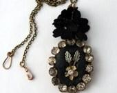 Vintage Diamante Frame Necklace