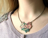 Scrapbook Necklace - Wild Flowers