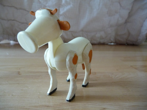 Vintage Fisher Price Cow (she's old and blind)