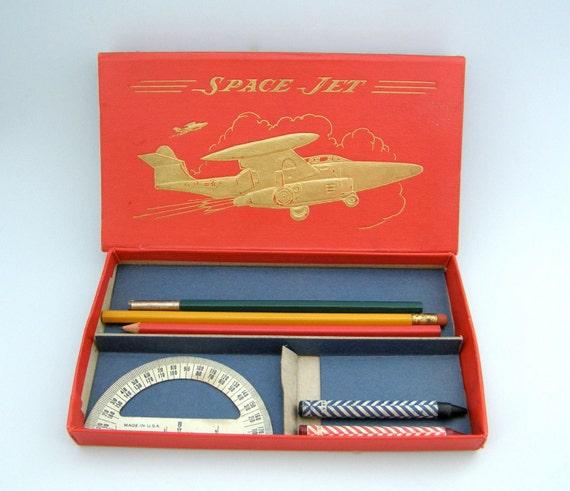 SALE -- American Pencil Company SPACE JET Pencil Case No 4924a