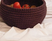 Special Value Fabulous Large Handmade One of a kind crocheted Kitchen Bowl/ Basket
