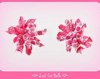 Pink Dots Galore Korker Dog Bows