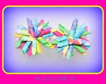 Tie Dye Magic Korker Dog Bows