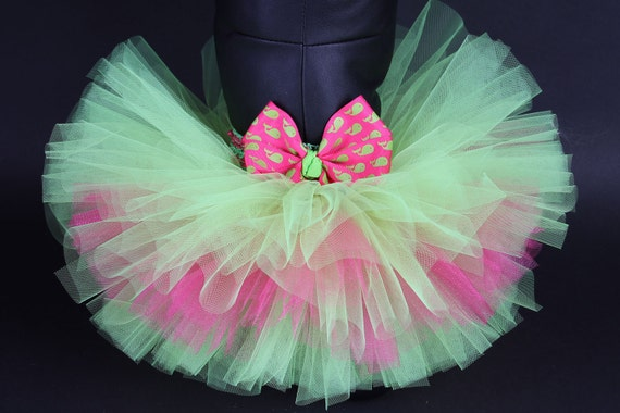 Pink and Citrus Green Whale DOG TUTU