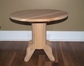 Unfinished Pedestal Table