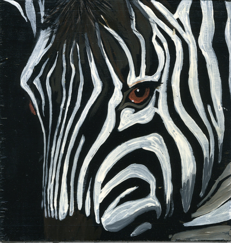 famous zebra painting the image kid has it. Black Bedroom Furniture Sets. Home Design Ideas