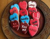 Valentines Day - Conversation Cookie Hearts