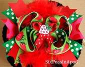 Clearance...Sweet Strawberry bow