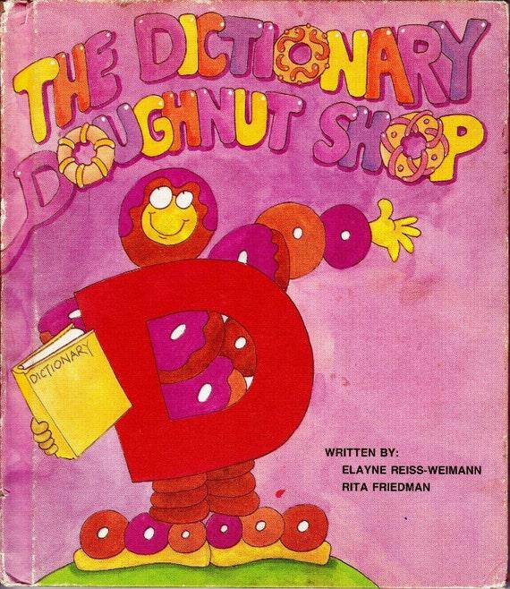 The Letter People series vintage kids book The Dictionary Doughtnut Shop, TV show, retro ABC alphabet illustrations