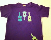Toddler Boy T-shirt with appliqued Guitars