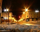 Deserted Downtown (Augusta, Maine) in winter.