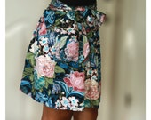 Woodland Floral Mini Skirt with Sash Belt - Last Stock Available
