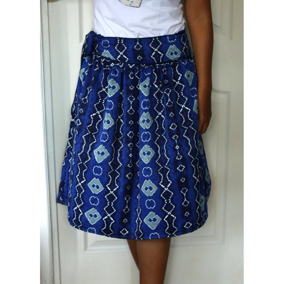 Midi Skirt Royal Blue Midi Skirt with sash belt Free Size- ready to ship