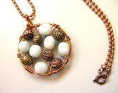 Beaded Oriental Necklace, Chinese Picture Jasper