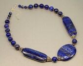 Lapis Lazuli & Antique Silver Necklace