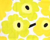 "Marimekko medium yellow and lime UNIKKO cotton fabric 13"" x 36"""