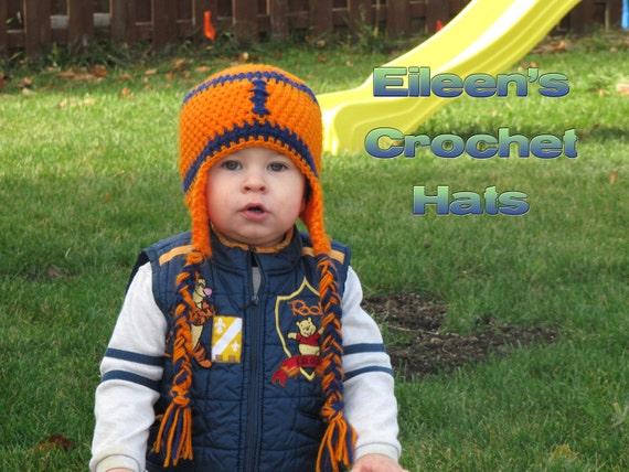 Crochet Chicago Bears Football Hat
