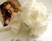 Wedding Bouquet - rustic bridal bouquet - fabric bouquets - woodland - vintage - handmade flowers - Roses