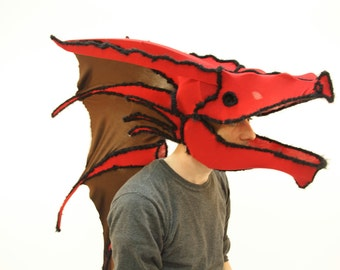 Red dragon mask.