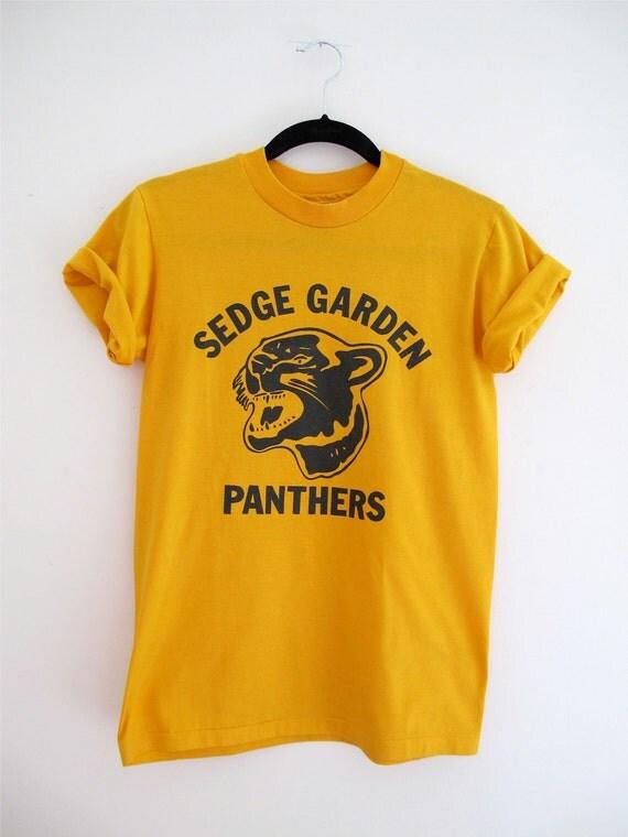 Sedge Garden Panthers Yellow Vintage Tee Shirt