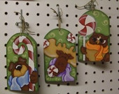 Candy Christmas Trio ornaments Pattern