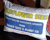 Wildflower Seed, Grainsack Pillow Cover 12x16
