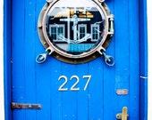 Blue Door Photo Print 8X10-Fine Art Photography-Home Decor-Blue-Vibrant Color