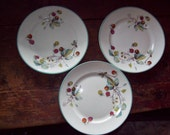 Set of 3 Royal Worcester Strawberry Plates