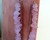 Rose Quartz Dangler Earrings