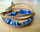 Lapiz Lazuli Stone Wrap Bracelet/Necklace