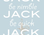 "Jack be Nimble - 8x10"" - Digital Download - Printable"