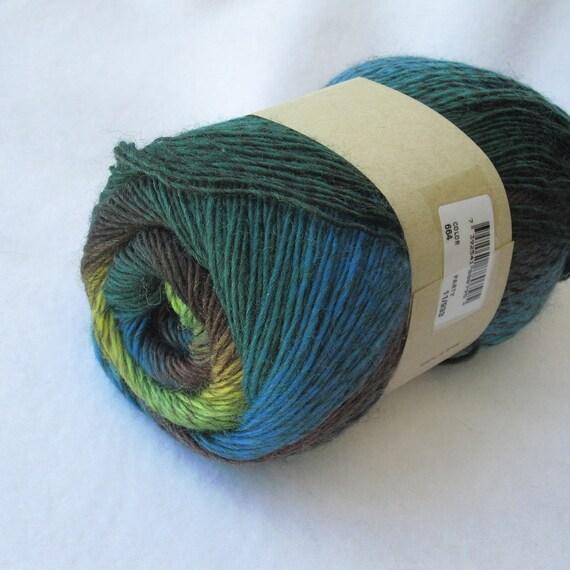 Marks and Kattens Fame Trend 664 jungle fingering self-striping superwash wool blend yarn