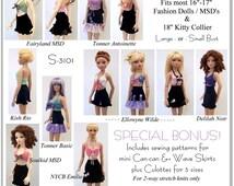 PDF French Flirt Crochet Pattern for 16 inch Fashion dolls, Kitty Collier, and MSD BJD