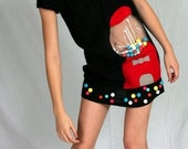 Black Bubblegum machine dress with Neon Beads - kawaii geekery
