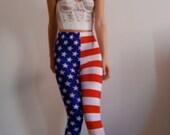 Sample Sale American Flag leggings. size XS - S