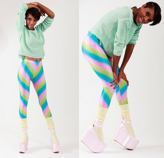 items similar to cotton candy women leggings on etsy