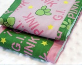 Infant Burp Cloths - G.I. Pink - Set of 2