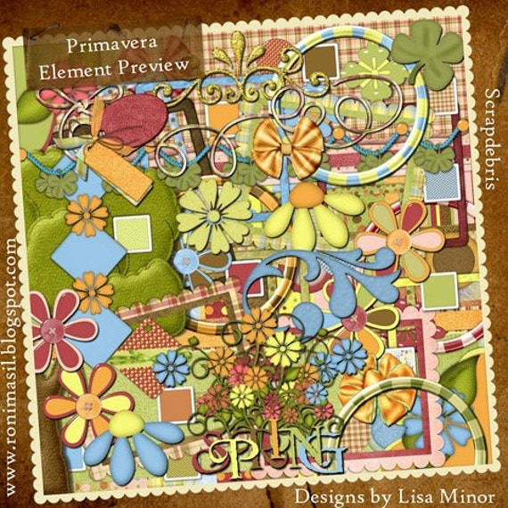Primavera a Digital Scrapbook Kit
