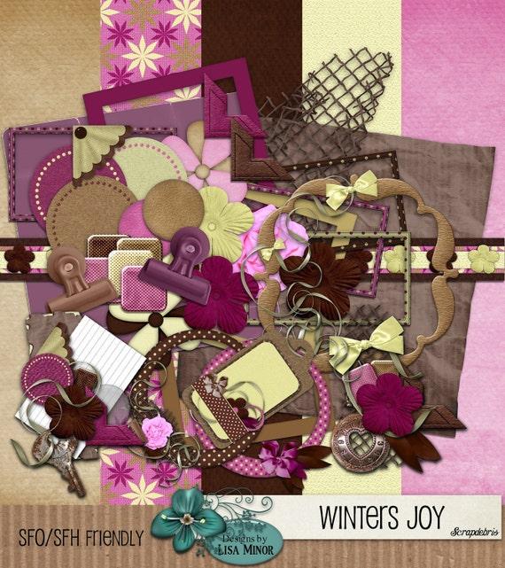 Winters Joy - A Digital Scrapbook Kit