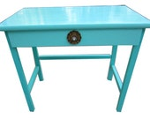 Aqua Side Table, Desk or Vanity