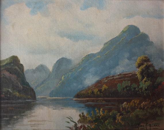 PAIR Thos C Blake 2 Landscapes Scotland Lochs