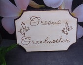 Grandparents  Wooden Sign Place Card Seating