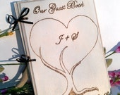 Rustic Chic  Wedding Guest Book or Words of Wisdom Book Personalized