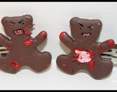 Zombie Bear Hair Clips - Chunk and Gutster
