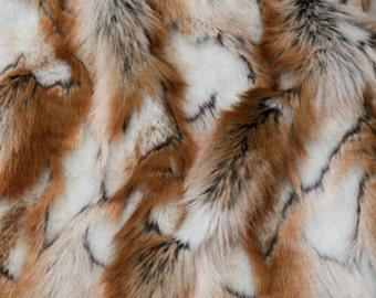 Third Yard Brown Brandy Fox Shag Fur