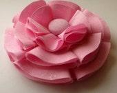 Pink Glitter Fabric Hair Bow