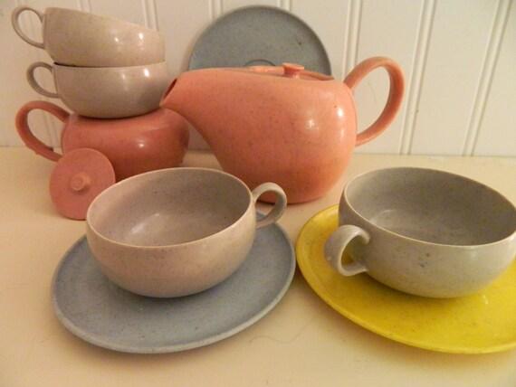 Russel Wright vintage children's tea set
