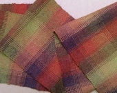 Handwoven Alpaca Scarf - long, warm colors reduced price 10.00 off