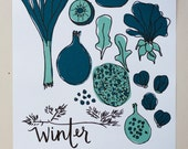 Winter // What Produce Is In Season 8x10 Original Print