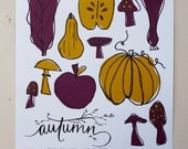 Autumn // What Produce Is In Season 8x10 Original Print